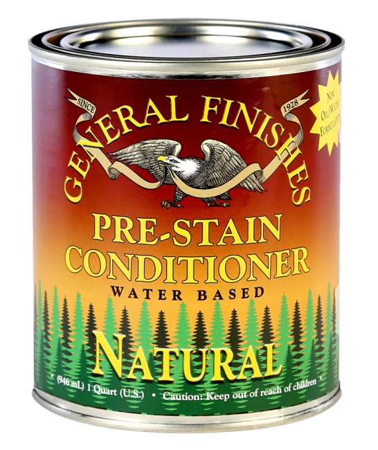 Water based pre stain conditioner natural general finishes for Exterior wood water based primer