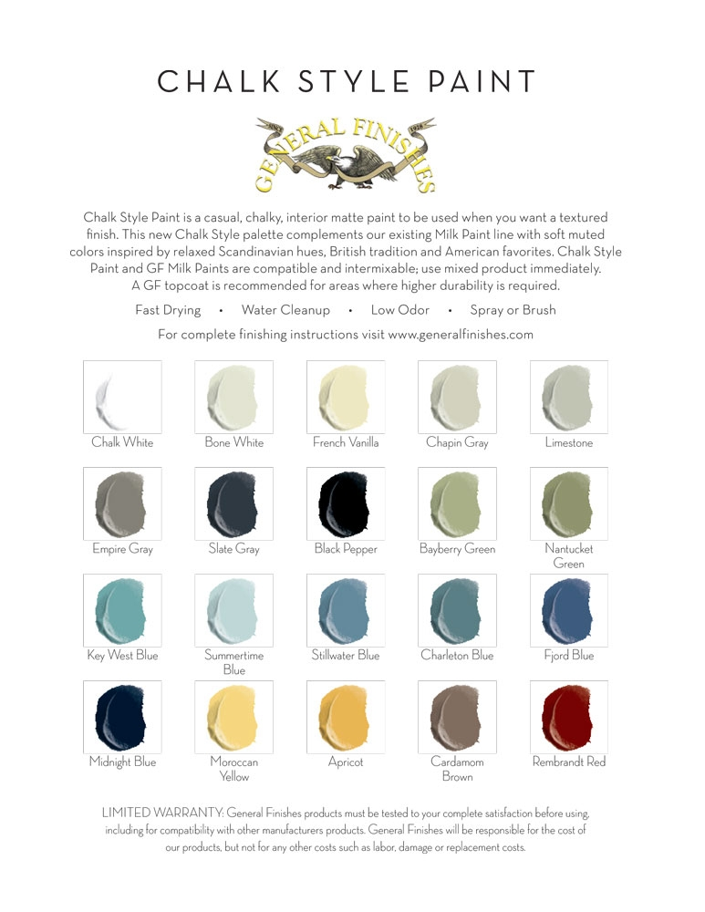 Good ... Color Chart Templates. PointOfPurchase Materials General Finishes