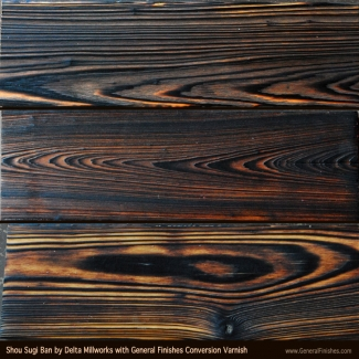 Shou Sugi Bahn Wood Siding With General Finishes