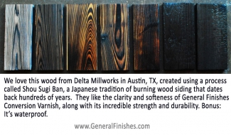 Conversion Varnish And Shou Sugi Ban At Delta Millworks In