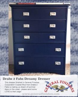 Classy General Finishes Coastal Blue Milk Paint Dresser