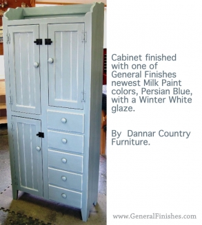 staining kitchen cabinets cabinet dressed in blue milk paint amp white glaze 2462