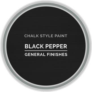 General Finishes Chalk Style Paint - Black Pepper