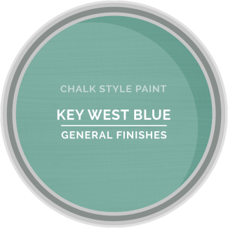 General Finishes Chalk Style Paint - Key West Blue
