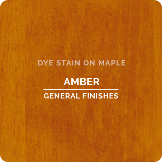 General Finishes Water Based Dye Stain - Amber (ON MAPLE)