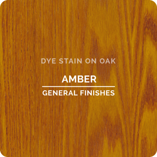 General Finishes Water Based Dye Stain - Amber (ON OAK)