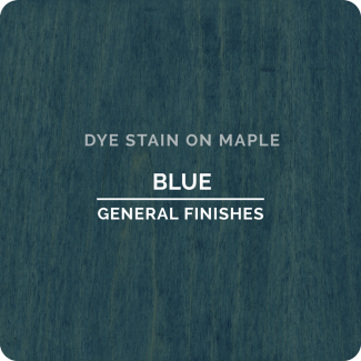 General Finishes Water Based Dye Stain - Blue (ON MAPLE)