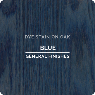 General Finishes Water Based Dye Stain - Blue (ON OAK)