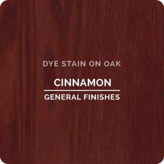 General Finishes Water Based Dye Stain - Cinnamon (ON OAK)