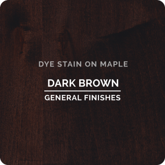 General Finishes Water Based Dye Stain - Dark Brown (ON MAPLE)