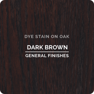 General Finishes Water Based Dye Stain - Dark Brown (ON OAK)