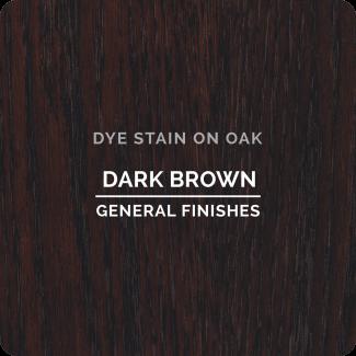 General Finishes Water Based Dye Stain   Dark Brown (ON OAK)