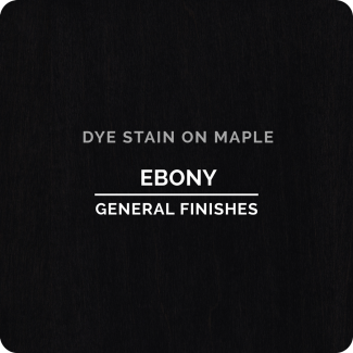 General Finishes Water Based Dye Stain - Ebony (ON MAPLE)