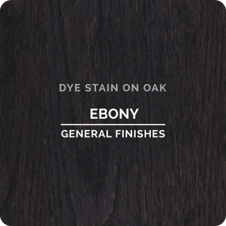 General Finishes Water Based Dye Stain - Ebony (ON OAK)