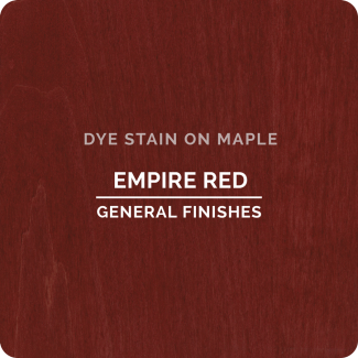 General Finishes Water Based Dye Stain - Empire Red (ON MAPLE)