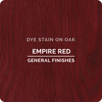 General Finishes Water Based Dye Stain - Empire Red (ON OAK)