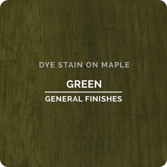 General Finishes Water Based Dye Stain - Green (ON MAPLE)