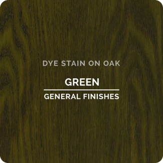 General Finishes Water Based Dye Stain - Green (ON OAK)