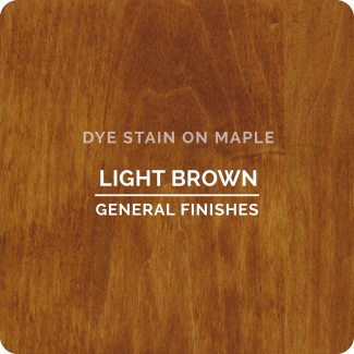General Finishes Water Based Dye Stain - Light Brown (ON MAPLE)