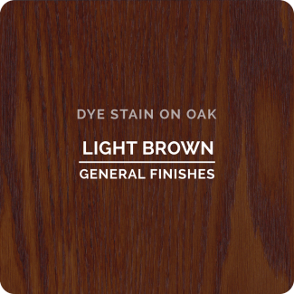 General Finishes Water Based Dye Stain - Light Brown (ON OAK)