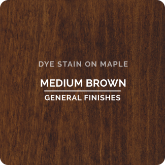General Finishes Water Based Dye Stain - Medium Brown (ON MAPLE)