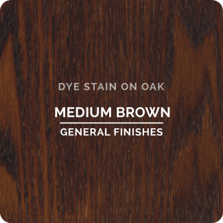 General Finishes Water Based Dye Stain - Medium Brown (ON OAK)