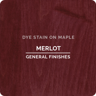 General Finishes Water Based Dye Stain - Merlot (ON MAPLE)