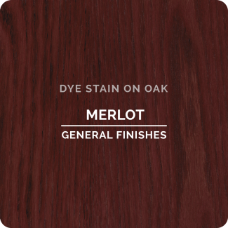 General Finishes Water Based Dye Stain - Merlot (ON OAK)