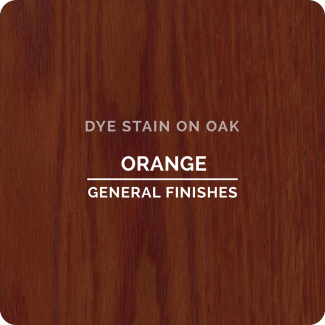 General Finishes Water Based Dye Stain - Orange (ON OAK)