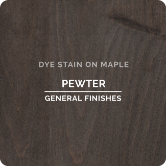 General Finishes Water Based Dye Stain - Pewter (ON MAPLE)
