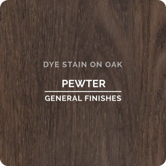 General Finishes Water Based Dye Stain - Pewter (ON OAK)
