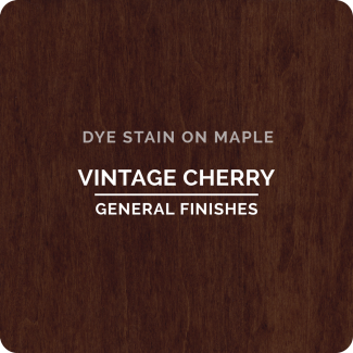 General Finishes Water Based Dye Stain - Vintage Cherry (ON MAPLE)
