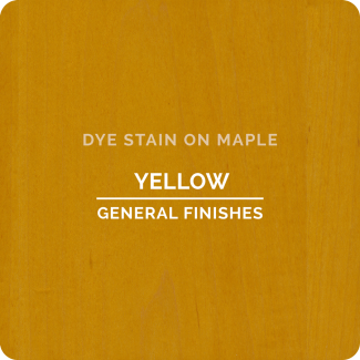 General Finishes Water Based Dye Stain - Yellow (ON MAPLE)