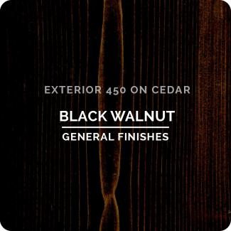 General Finishes Exterior 450 Water Based Wood Stain - Black Walnut (ON CEDAR)