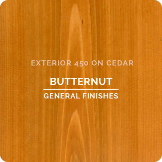 General Finishes Exterior 450 Water Based Wood Stain - Butternut (ON CEDAR)
