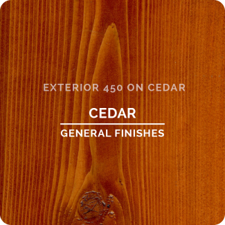 General Finishes Exterior 450 Water Based Wood Stain - Cedar (ON CEDAR)