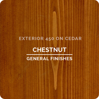General Finishes Exterior 450 Water Based Wood Stain - Chestnut (ON CEDAR)