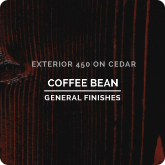 General Finishes Exterior 450 Water Based Wood Stain - Coffee Bean (ON CEDAR)