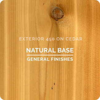 General Finishes Exterior 450 Water Based Wood Stain - Natural Base (ON CEDAR)
