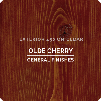 General Finishes Exterior 450 Water Based Wood Stain - Olde Cherry (ON CEDAR)