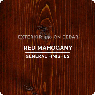 General Finishes Exterior 450 Water Based Wood Stain - Red Mahogany (ON CEDAR)