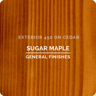 General Finishes Exterior 450 Water Based Wood Stain - Sugar Maple (ON CEDAR)