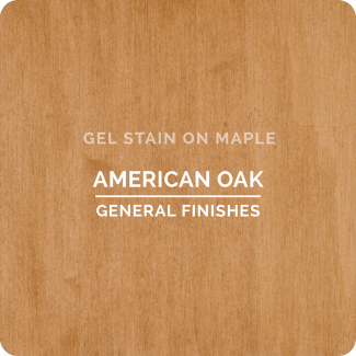 General Finishes Oil Based Gel Stain - American Oak (ON MAPLE)