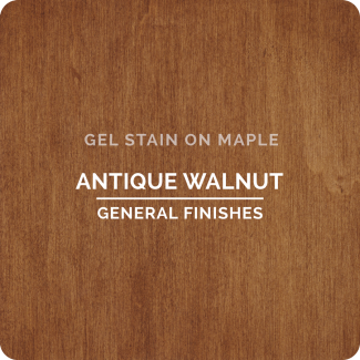 General Finishes Oil Based Gel Stain - Antique Walnut (ON MAPLE)