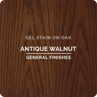 General Finishes Oil Based Gel Stain - Antique Walnut (ON OAK)