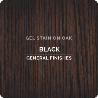 General Finishes Oil Based Gel Stain - Black (ON OAK)