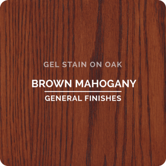 General Finishes Oil Based Gel Stain - Brown Mahogany (ON OAK)