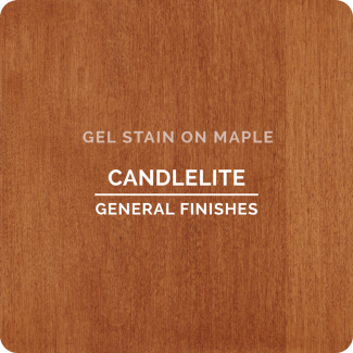General Finishes Oil Based Gel Stain - Candlelite (ON MAPLE)