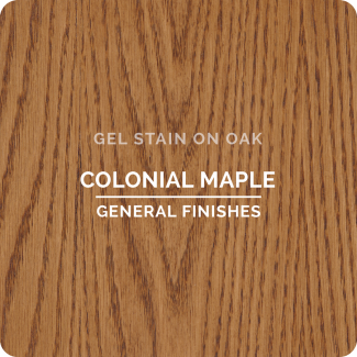 General Finishes Oil Based Gel Stain - Colonial Maple (ON OAK)