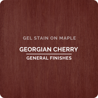 General Finishes Oil Based Gel Stain - Georgian Cherry (ON MAPLE)